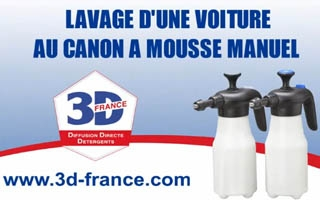 d monstration vid o d 39 un nettoyage de voiture utilisation canon mousse retirer goudron sur. Black Bedroom Furniture Sets. Home Design Ideas